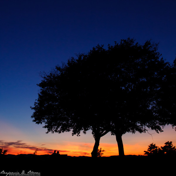 'Time with you' - Sunset Silhouette from Battery Park in Burlington, Vermont